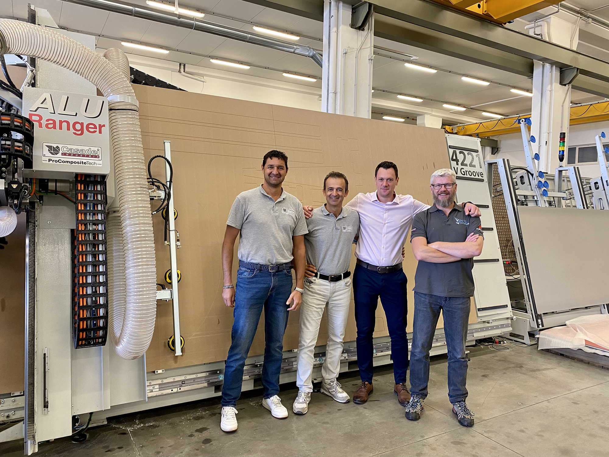 James and Ged Lodge visit Casadei Industria ProTech in San Marino